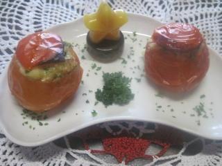 Tomates farcies au poisson. four + photos. 10314611