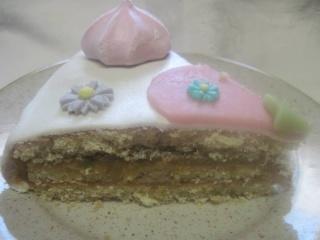 Gâteau compote de rhubarbe.fleuri.sans cuisson + photos. 10339710