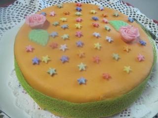 Gâteau aux pommes et pâte à sucre + photos. 13799210