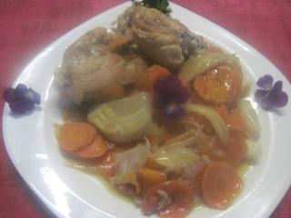 Hauts de poulet aux carottes et fenouil au WOK + photos. Img_1614