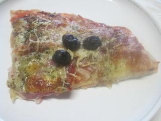 Pizza à la panchetta et mozzarella + photos. Img_2211