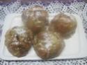 Pommes en chemises fourrées à la confiture d'abricots. photos. 10048610