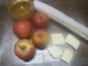 Pommes en chemises fourrées à la confiture d'abricots. photos. 10151810