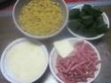 Petites pâtes paniers aux épinards et bacon. parmesan + photos. 10168010