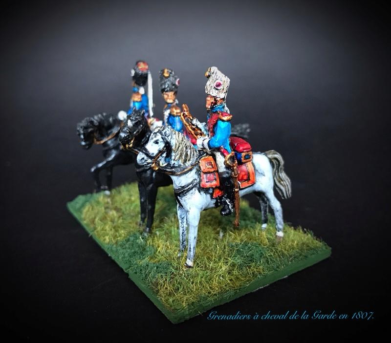 Colonel LEPIC [ NAPOLÉONFIGURINES ] + Grenadiers à cheval de la Garde [ HÄT 8013 ] au 1/72°. Image233