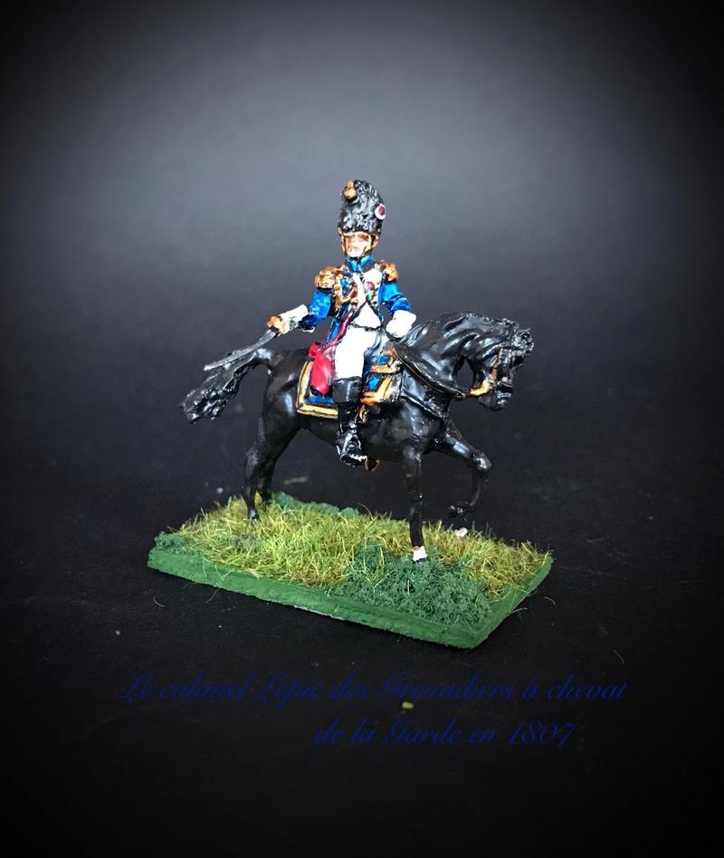 Colonel LEPIC [ NAPOLÉONFIGURINES ] + Grenadiers à cheval de la Garde [ HÄT 8013 ] au 1/72°. Image239