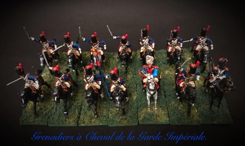 Colonel LEPIC [ NAPOLÉONFIGURINES ] + Grenadiers à cheval de la Garde [ HÄT 8013 ] au 1/72°. Image242