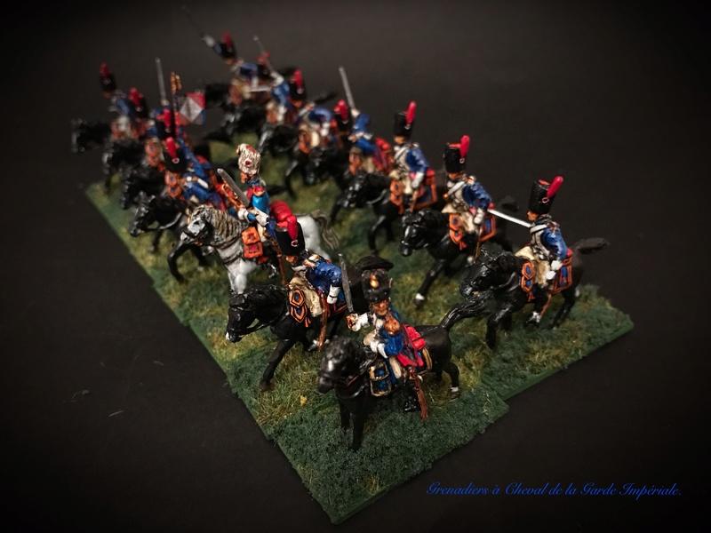 Colonel LEPIC [ NAPOLÉONFIGURINES ] + Grenadiers à cheval de la Garde [ HÄT 8013 ] au 1/72°. Image243