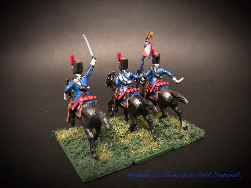Colonel LEPIC [ NAPOLÉONFIGURINES ] + Grenadiers à cheval de la Garde [ HÄT 8013 ] au 1/72°. Image246