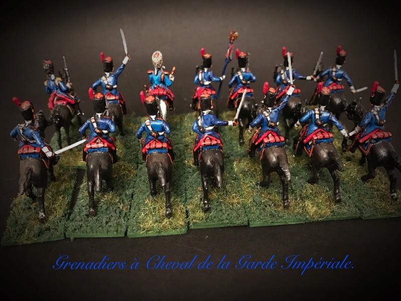 Colonel LEPIC [ NAPOLÉONFIGURINES ] + Grenadiers à cheval de la Garde [ HÄT 8013 ] au 1/72°. Image247