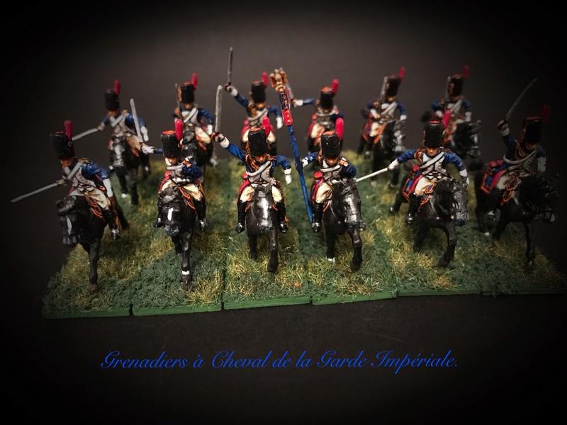 Colonel LEPIC [ NAPOLÉONFIGURINES ] + Grenadiers à cheval de la Garde [ HÄT 8013 ] au 1/72°. Image248