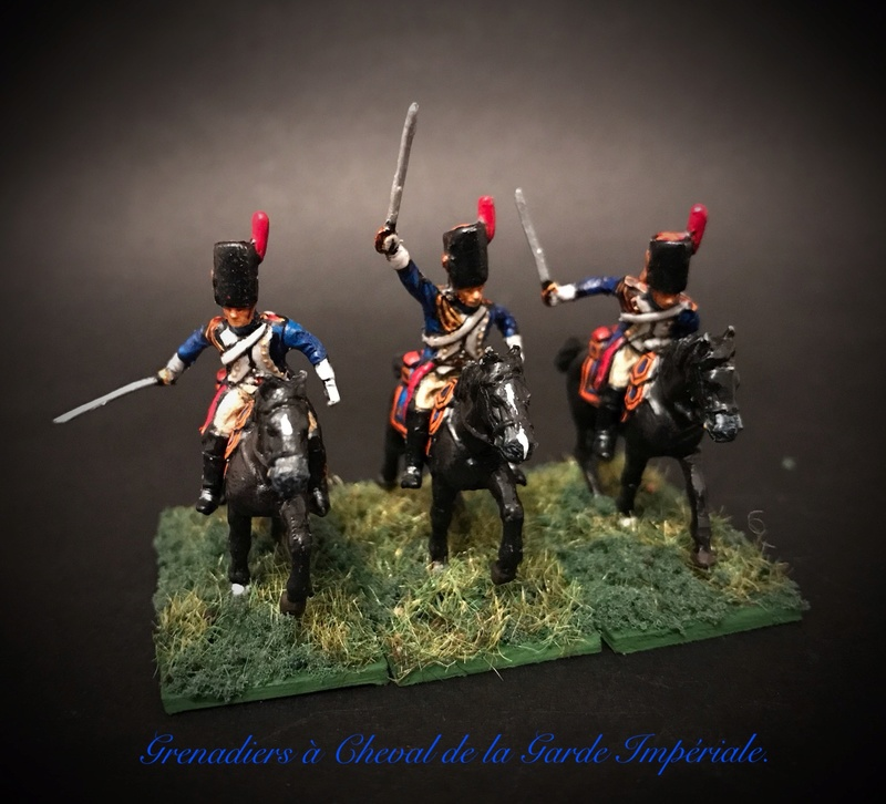Colonel LEPIC [ NAPOLÉONFIGURINES ] + Grenadiers à cheval de la Garde [ HÄT 8013 ] au 1/72°. Image251
