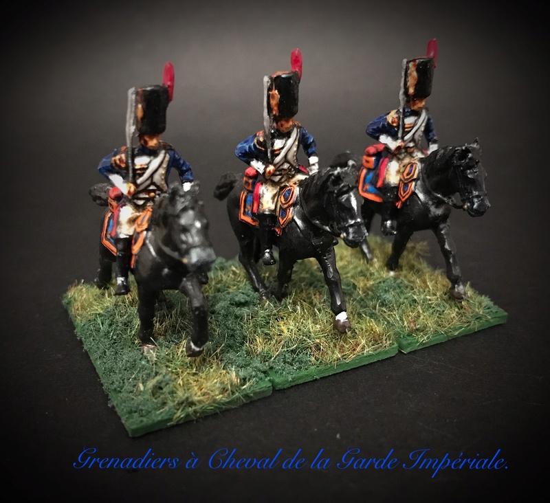 Colonel LEPIC [ NAPOLÉONFIGURINES ] + Grenadiers à cheval de la Garde [ HÄT 8013 ] au 1/72°. Image256