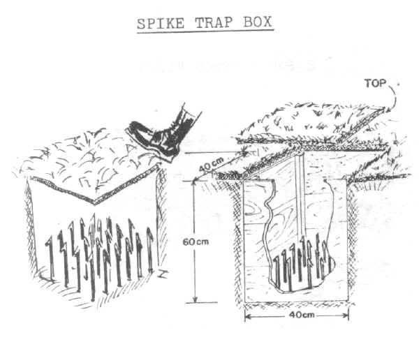 Les pièges en bambou Vietcong (Booby traps) partie 1 Spike_11