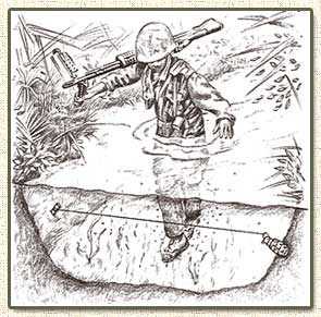 Les pièges en bambou Vietcong (Booby traps) partie 1 Trap_111