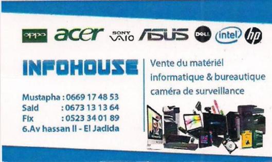 Informatique - vente matériel & consommables : Infohouse  Infoho10