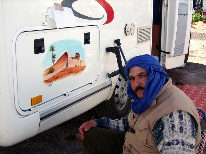 peinture sur camping car Ssa52013