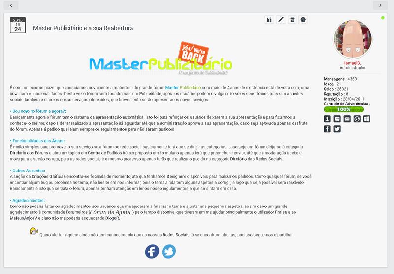 ModernBB - Conheça a nova versão de fórum dos fóruns Forumeiros 410