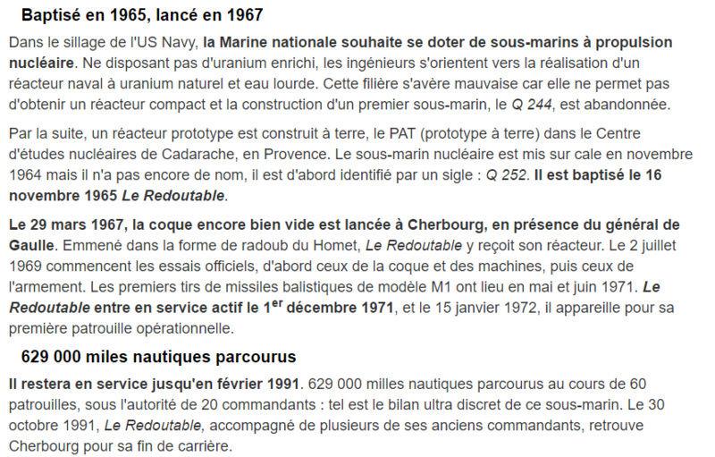 LE REDOUTABLE (SNLE) (Sous surveillance spéciale) - Page 30 S110
