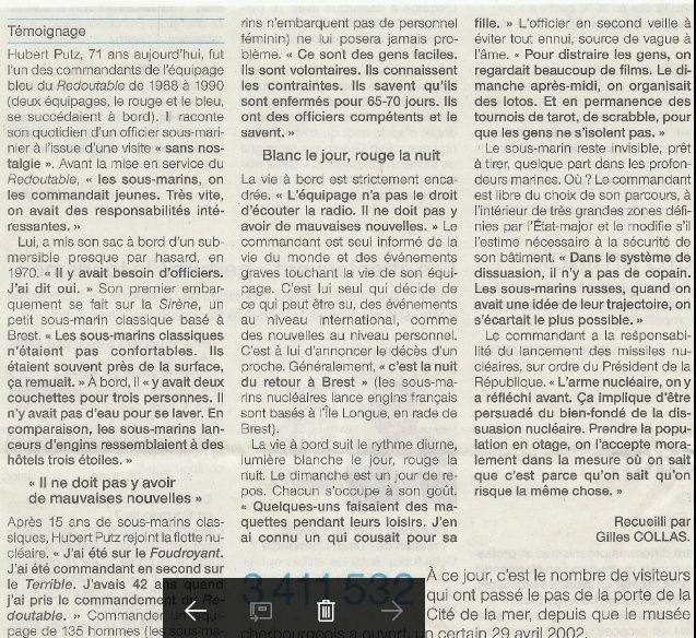 LE REDOUTABLE (SNLE) (Sous surveillance spéciale) - Page 30 S1610