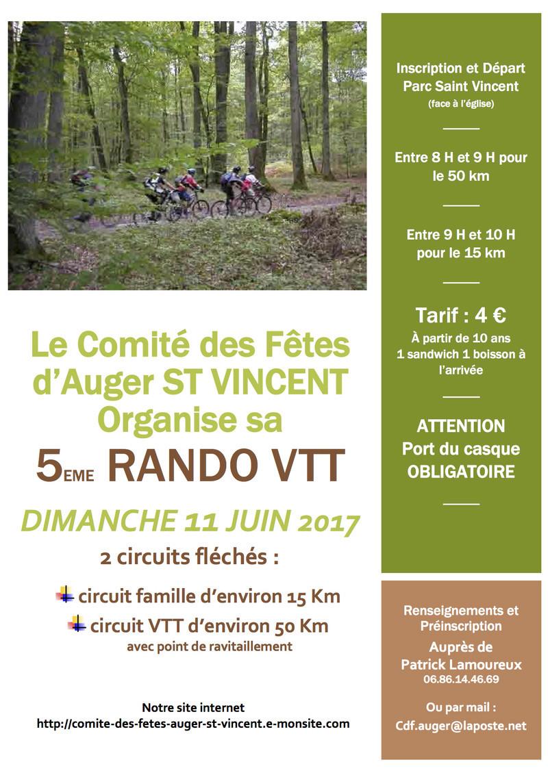 5 eme Rando D'Auger St Vincent - 11 juin 2017 Flyer_10