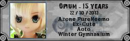 [AZ Aoto GW] Opium 15y - 22/10 - 8th birthday Opiupx10