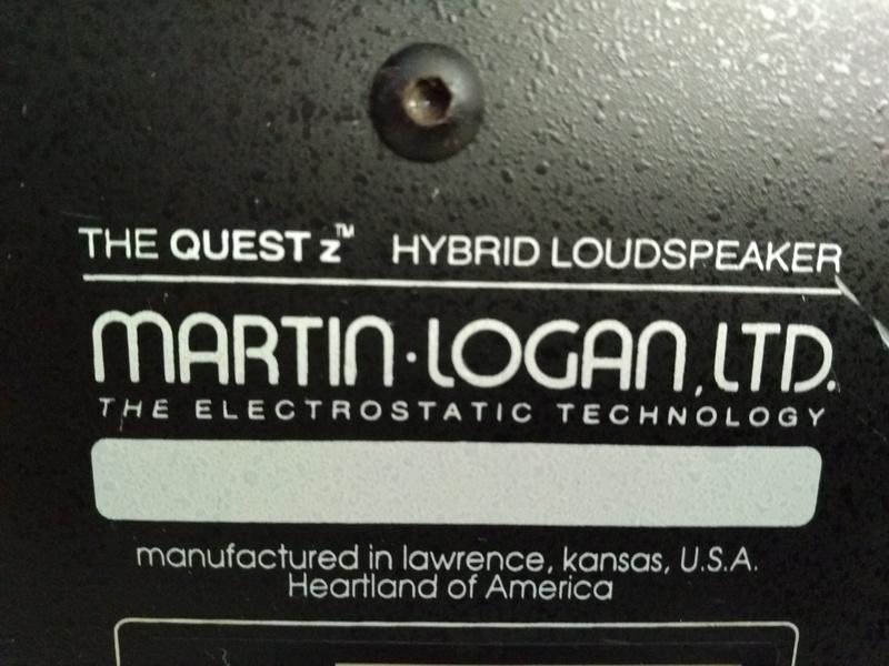 Martin Logan THE QUEST Z Hybrid Electostatic speaker Img_2037