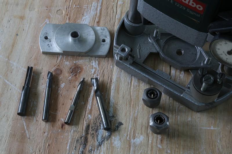 Fraisage de l'aluminium à la défonceuse. 17_jan28