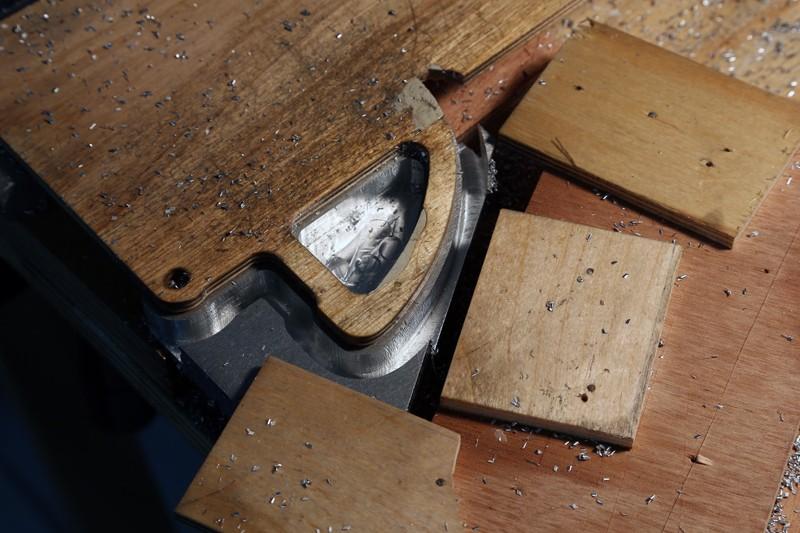 Fraisage de l'aluminium à la défonceuse. 19_jan24