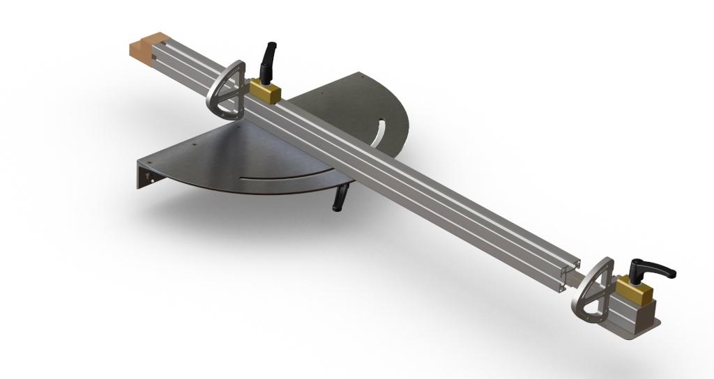 [Fabrication] Guide de coupe angulaire pour scie à format. Assemb41