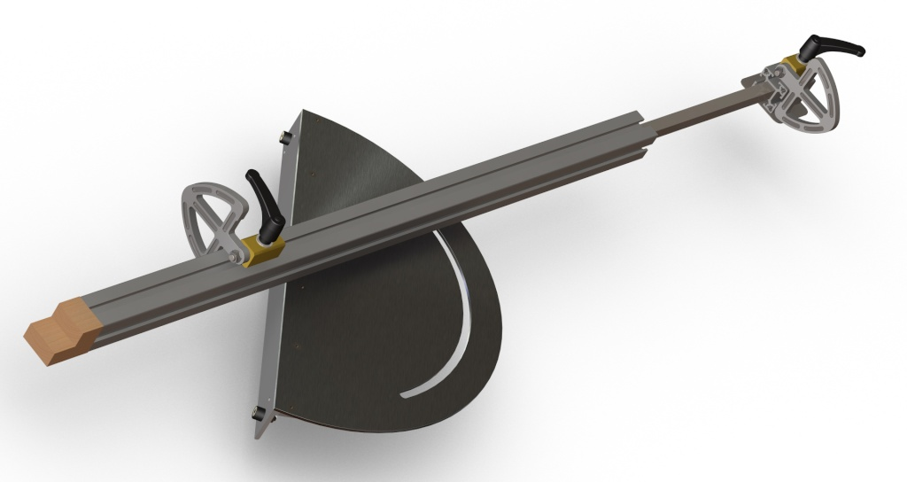 [Fabrication] Guide de coupe angulaire pour scie à format. Assemb42
