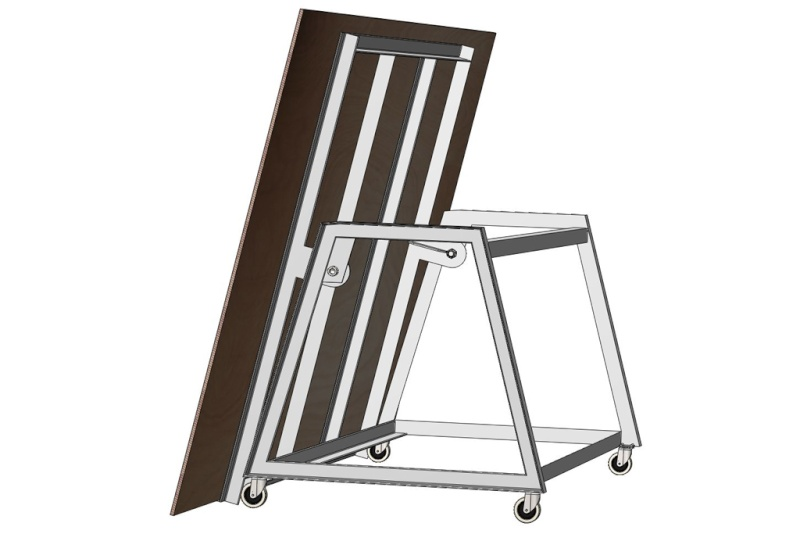 Table d'atelier basculante.  Chario12