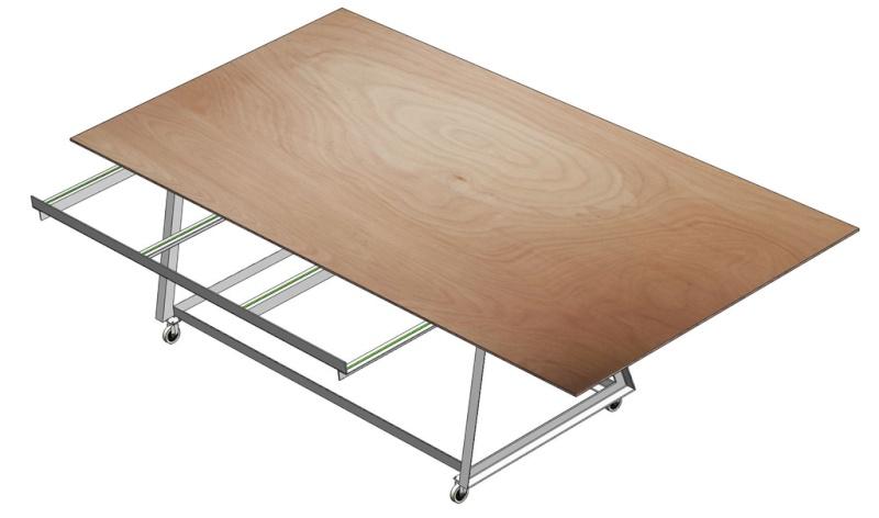 Table d'atelier basculante.  Chario13