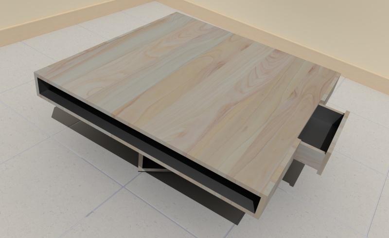 Aide sur sketchup pour plan de meuble Table_12