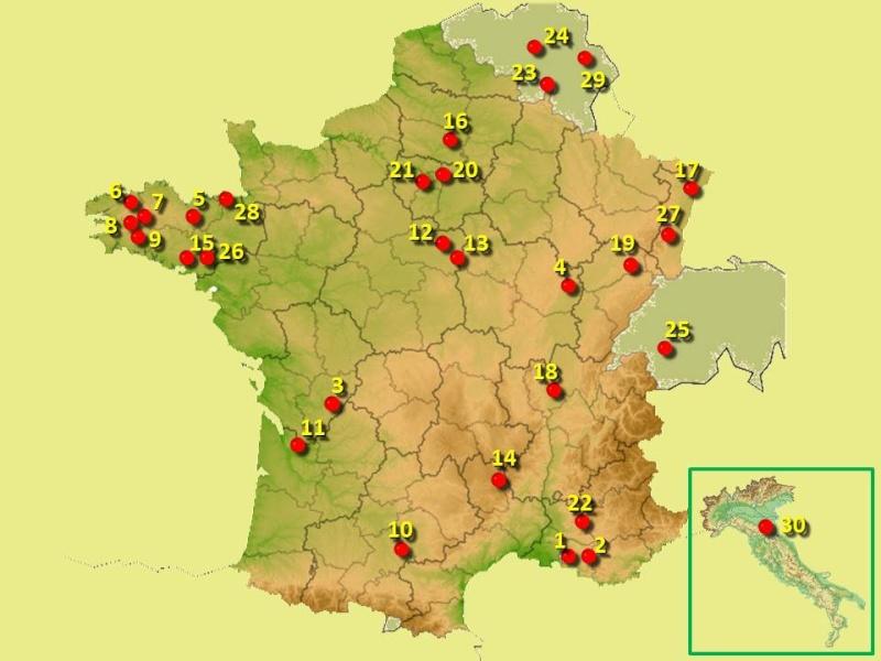 Cartographie des Groupes/Collèges/Clairières Carte_15