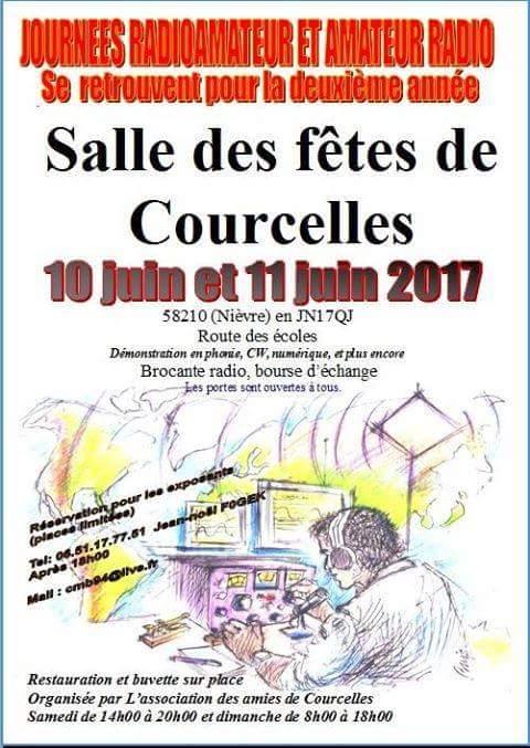 Journées Radioamateur et Amateur Radio . COURCELLES (58) .2017 Facebo10