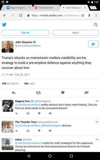 A Tweet from John Simpson Screen16