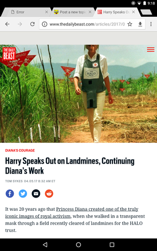 Harry Speaks Out on Landmines, Continuing Diana's Work Screen22