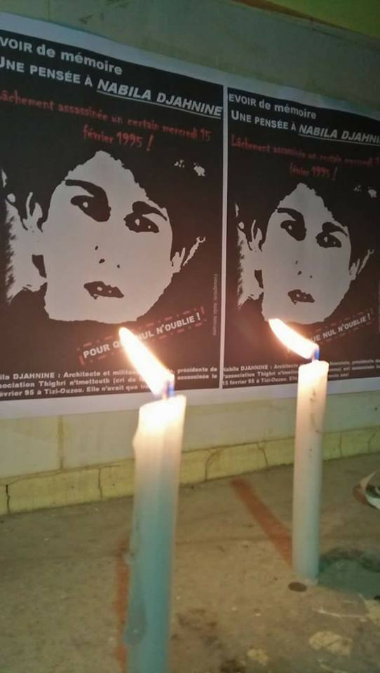 Allumage de bougies à la mémoire de Nabila Djahnine à Aokas le 15 février 2017  128