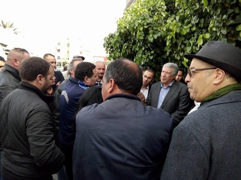 La  conférence de Younes Adli  empêchée par la police à Aokas le samedi 04 mars 2017 1423