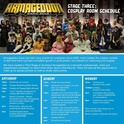 Auckland Armageddon Stage 3: Cosplay Room Schedule Stage_10
