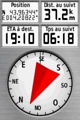Flèche rouge du compas 20810