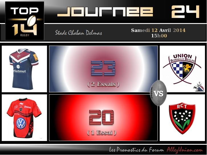 PRONOS 2013/2014 . UBB - RCT J2411