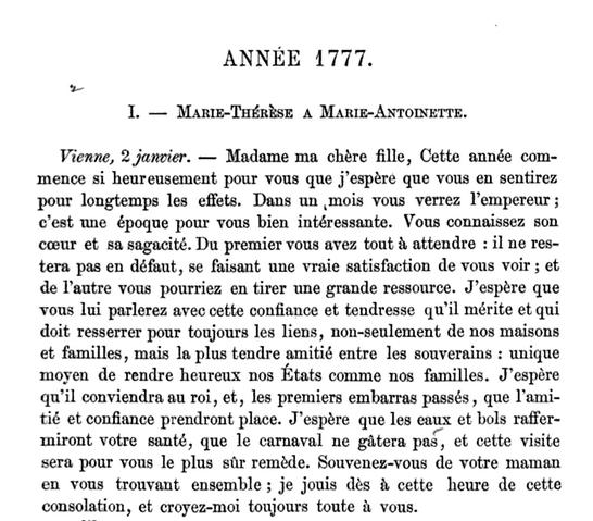 02 janvier 1777: Marie-Thérèse à Marie-Antoinette 18_jui10