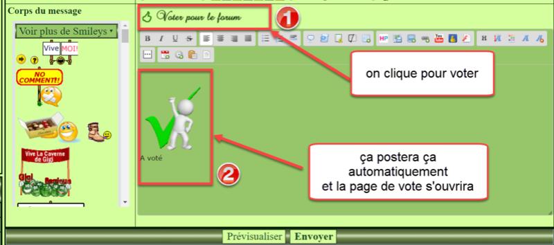 Un bouton de vote à deux fonctions dans l'éditeur Gigiii10