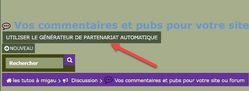 utiliser le générateur de partenariat automatique  Part11