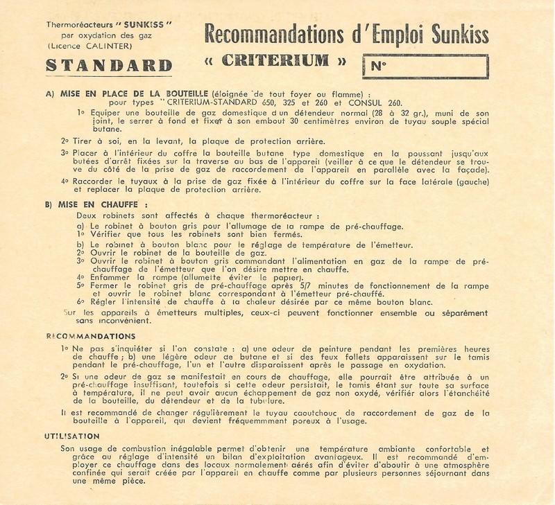 fonctionnement du chauffage gaz Notin 1966 Mode_d10
