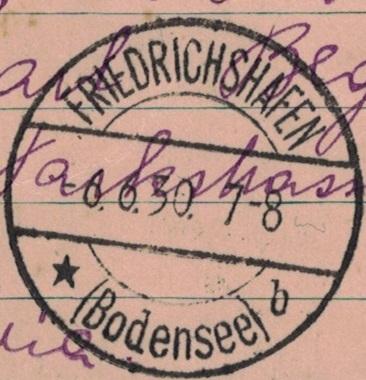 """nach - Südamerikafahrt 1930 (Rundfahrt-) Post nach Friedrichshafen"""" - Seite 7 Ak_frh10"""