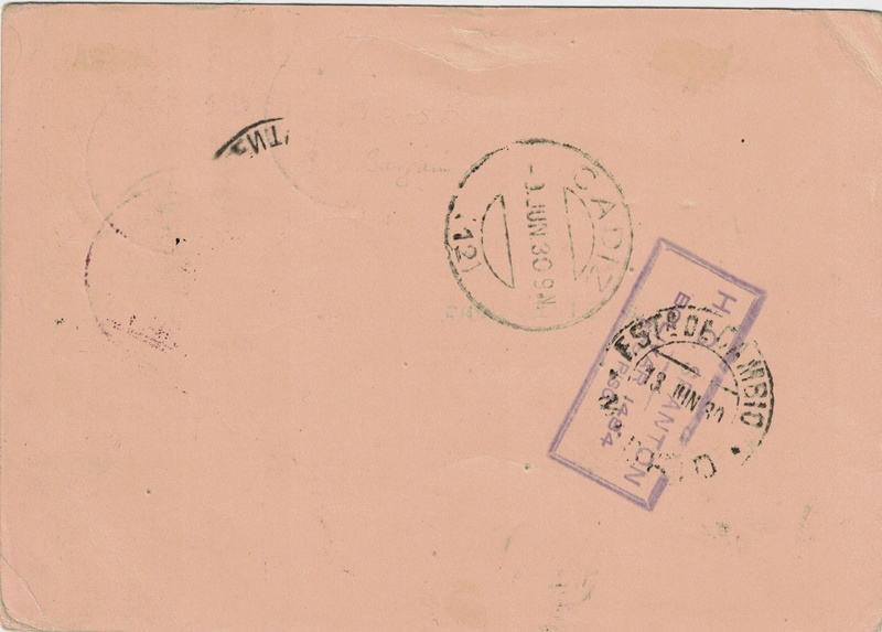 nach - Südamerikafahrt 1930, Post nach Sevilla - Seite 2 Argent10