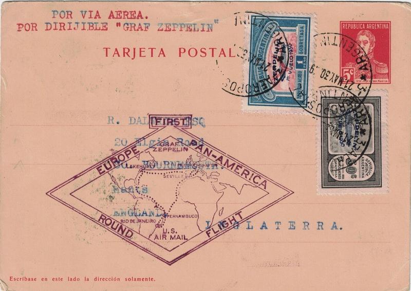 nach - Südamerikafahrt 1930, Post nach Sevilla - Seite 2 Argent11